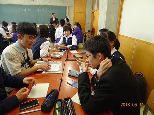 千葉商業高校學校語言課程
