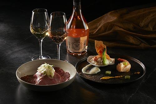 日本大蔥白灼小田和牛、大良炒奶北海扇貝握司蝦