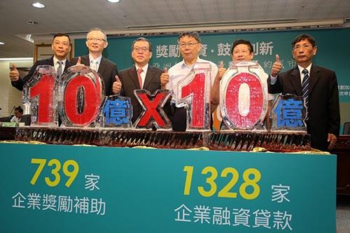 台北市產業發展獎補助及融資貸款雙破10億