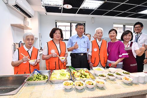 台北市復華長青中心開幕 市長柯文哲:落實在地養老