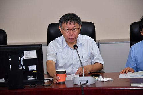 台北市長柯文哲與親民問政小組黨團會議