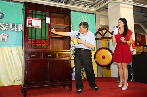 台北市長柯文哲出席再生家具特賣會:推動循環經濟