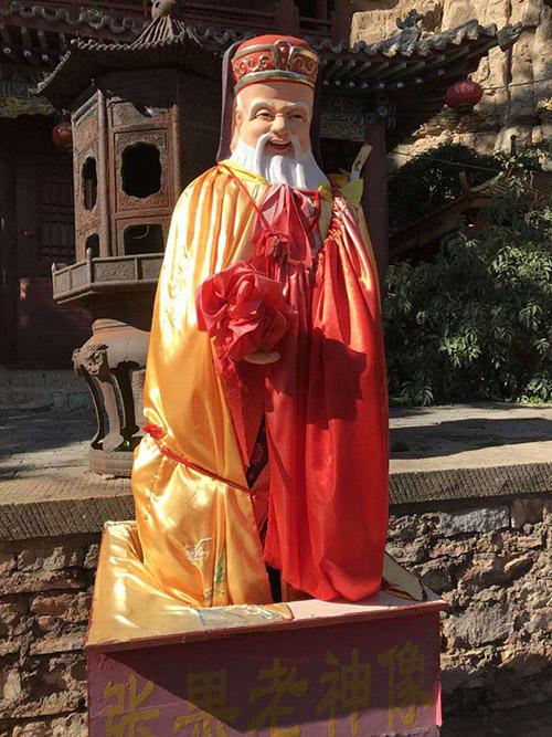 張果老神像(張汶寧攝)