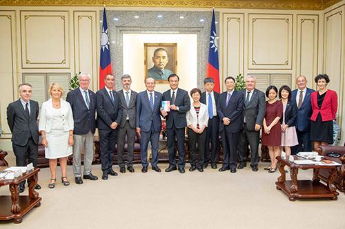 立法院長蘇嘉全接見法國國民議會友台小組