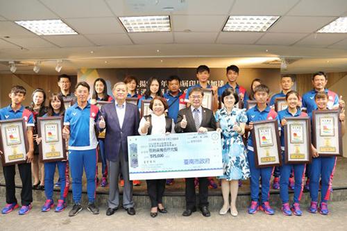 台南選手亞運奪1金8銅 市長李孟諺頒獎勉勵