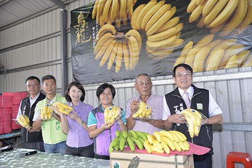 雲林縣副縣長丁彥哲見證進行外銷日本香蕉封櫃