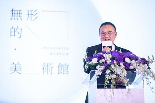 文化部蕭宗煌政務次長表示Art Taipei讓臺灣藝術家得以有展示平台,也讓民眾貼近藝術。