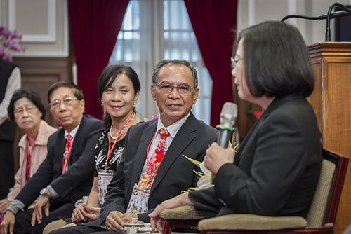 總統蔡英文接見「亞洲台灣客家聯合總會」訪問團