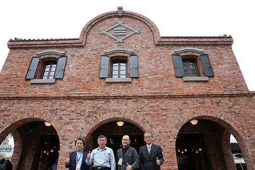 台北市長柯文哲出席三井舊倉庫開幕記者會
