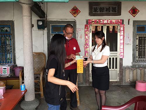 雲林縣政府親送低收家戶微型保險意外身故保險金