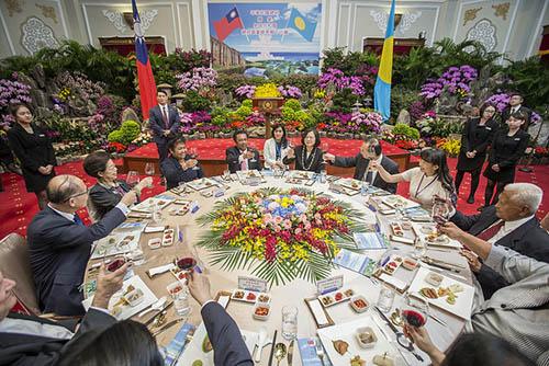 國宴宴請帛琉總統 總統蔡英文盼有更多合作
