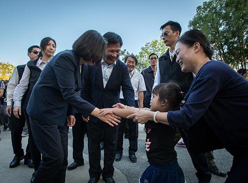 總統蔡英文參訪台中花博后里森林園區