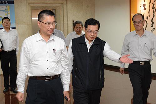 內政部長徐國勇訪視彰化警局 慰問警察同仁辛勞