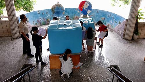 2018基隆減碳進行市-中正國小辦理雨撲滿彩繪活動