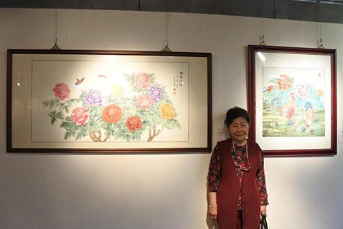 嘉義市文化局辦理方惠子彩墨工筆畫個展