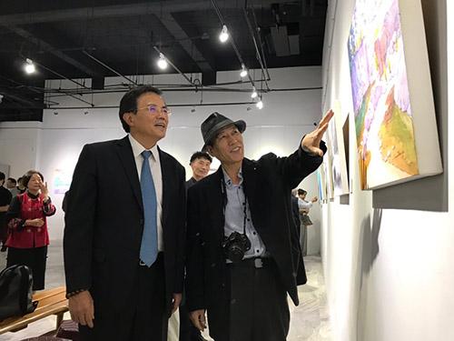 「花蓮縣.韓國堤川美術協會作品聯展」開幕