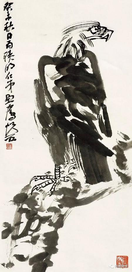 20吳悅石 松鷹圖