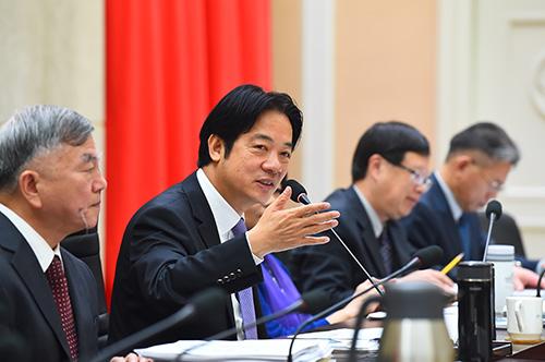 行政院長賴清德與六大工商團體座談 強調施政不中斷