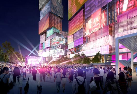 台北西門門戶計畫CITY ONE 夜景