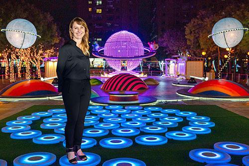 the pool創作者Jen Lewin與耶誕城幻彩星系