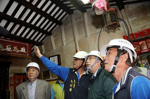 台南市長黃偉哲訪視弱勢職災家庭房屋修繕