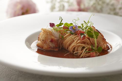 前菜-香料奶油龍蝦、番茄天使麵