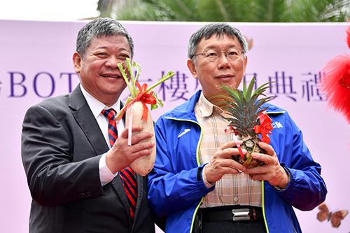 台北市長柯文哲主持江南市場BOT啟用典禮