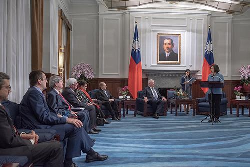 總統蔡英文期盼台歐深化交流合作