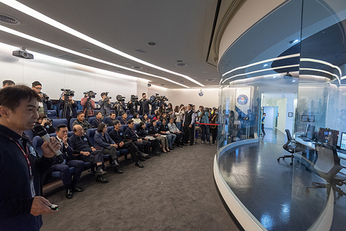 總統蔡英文視導福衛七號衛星授證
