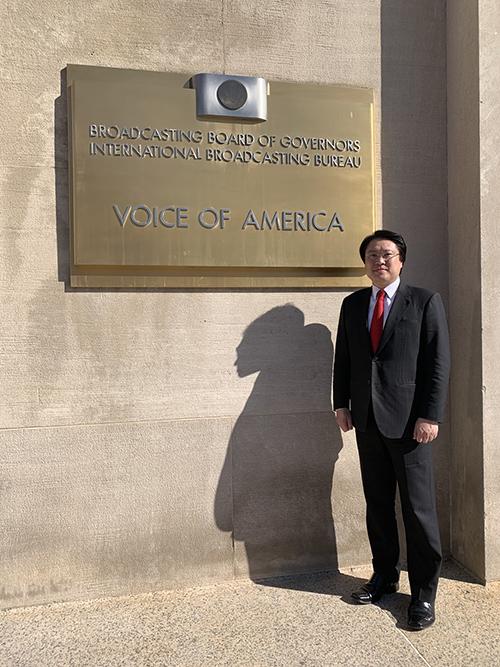 近年來第一人 基隆市長林右昌踏入美國之音受訪