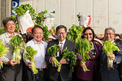 桃園市農特產品合作意向書簽署儀式