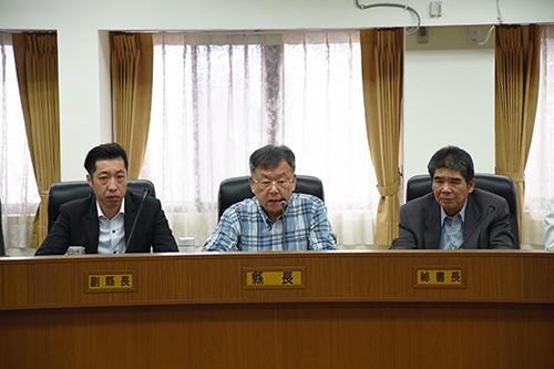 澎湖縣長賴峰偉宣示臨時人員4年內精簡25%