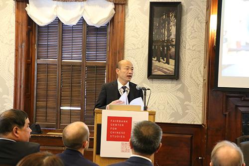 高雄市長韓國瑜哈佛演講 強調帶領高雄走向全世界