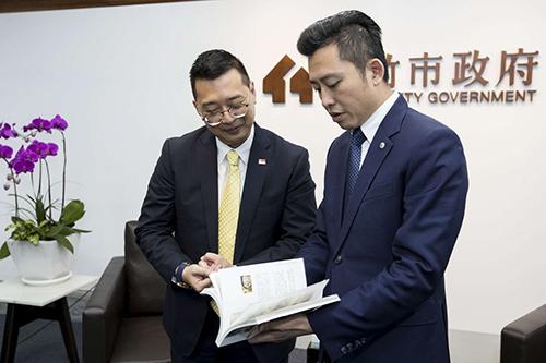 新加坡駐台代表拜會 新竹市長林智堅盼交流新創產業