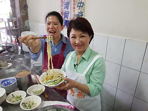 台中市長盧秀燕力推擀麵一條街 行銷在地好滋味