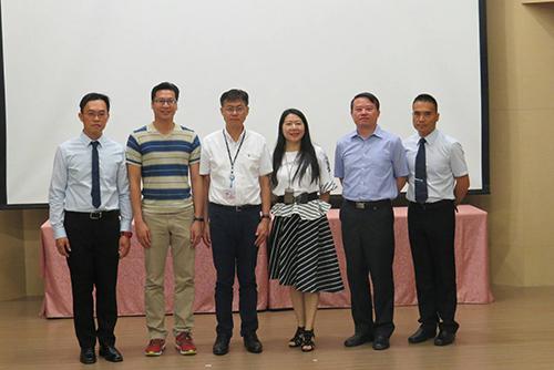 (由左至右)盧建銘主任、吳國銘主任、蔣偉民副局長、劉美蘭科長、林輝泉主任、侯成龍主任