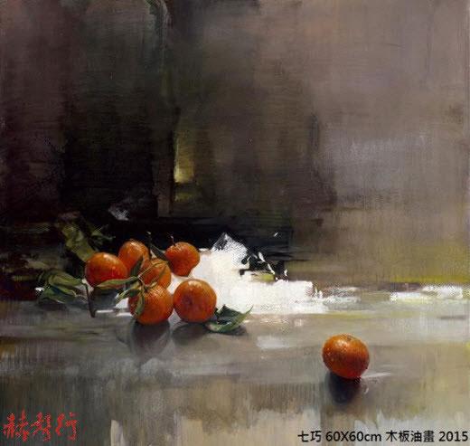 國際藝術家「梁君午」人物油畫:七巧