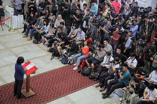 總統蔡英文針對香港議題發表談話