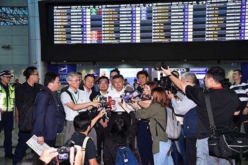 台北市長柯文哲啟程前往上海參加雙城論壇