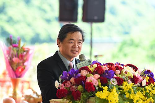行政院秘書長李孟諺出席翡翠原水管工程動土典禮
