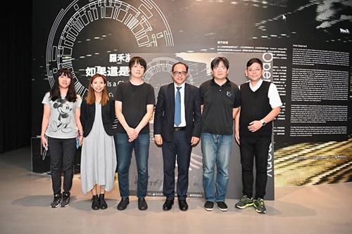 文化部國美館林志明館長(右3),藝術家吳家昀(左2),羅禾淋(左3)貴賓合影