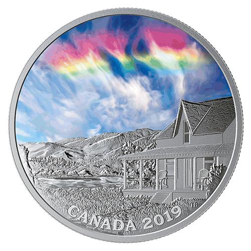 天空奇觀-火焰彩虹精鑄銀幣,新奇上市!
