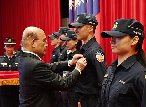 行政院長蘇貞昌出席警大校慶暨開學典禮