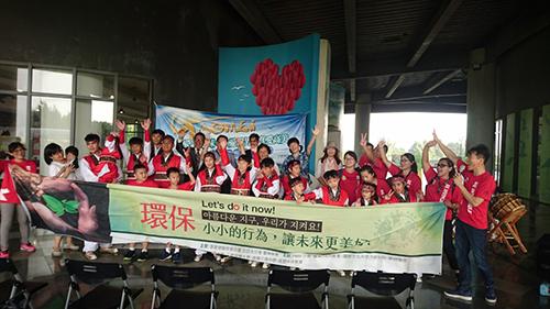 高美濕地遊客服務中心生態保護活動 韓媒前來採訪