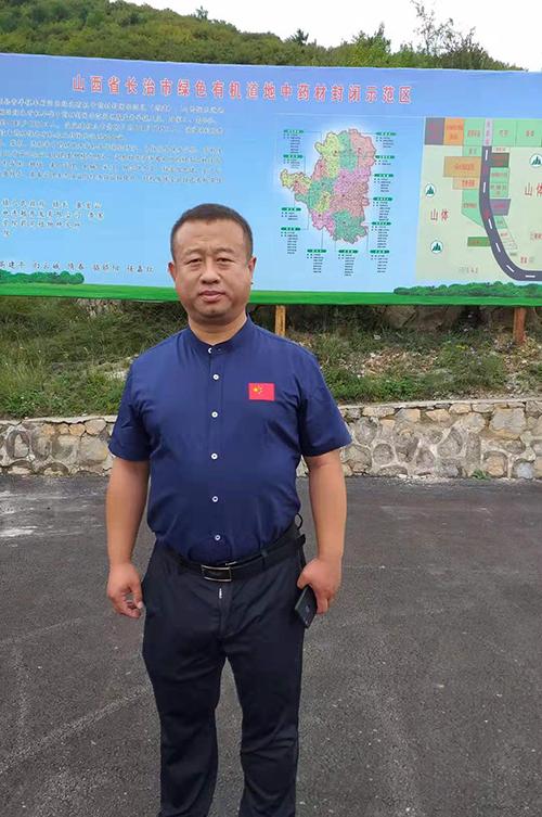振東中藥材公司總監李軍(張汶寧攝)