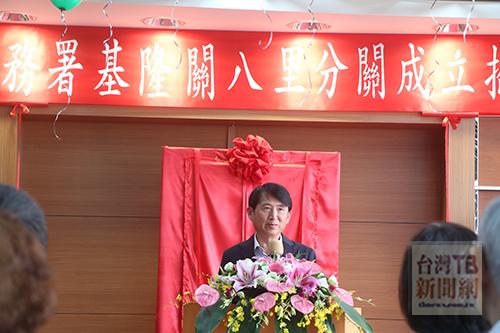 圖三:臺灣港務股份有限公司基隆分公司總經理劉詩宗代表港航界致賀。(記者陳念祖攝)
