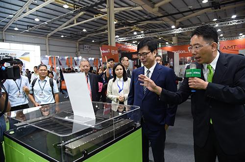 行政院副院長陳其邁出席「AMTS 2019先進製造技術展」開幕典禮