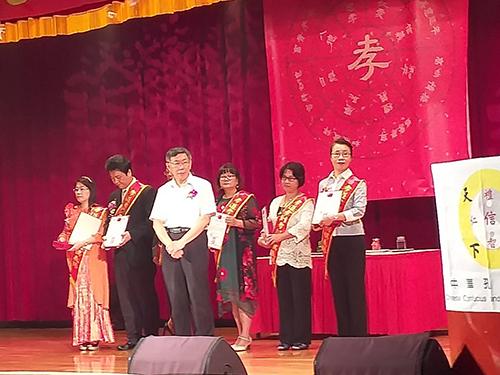 台北市長柯文哲頒獎(張汶寧攝)