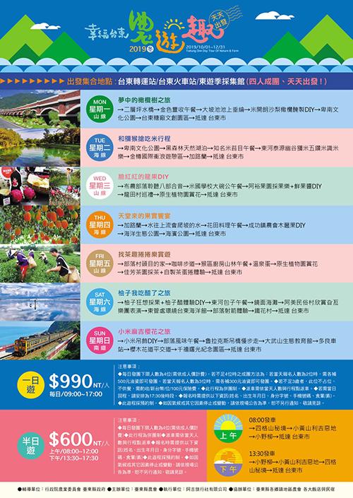 「幸福台東.農遊趣」暢遊山海體驗台東農村之美