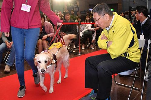 台北市長柯文哲出席「2019台北寵物節」宣傳記者會
